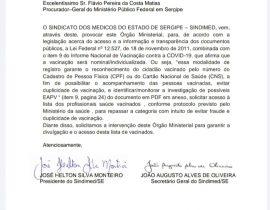 Sindimed Sergipe cobra lista de vacinação