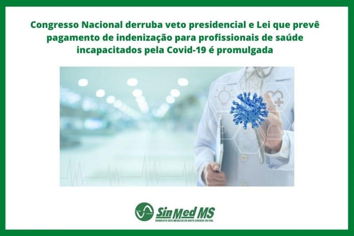 Indenização para profissionais da saúde incapacitados pela Covid-19