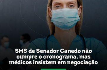 SIMEGO cobra pagamento a médicos de Senador Canedo